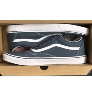 Búsqueda Turbina Analítico  Vans Shoes | Old Skool Canvas Dark Slate True White | Poshmark